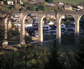 View from the terrace towards Calstock