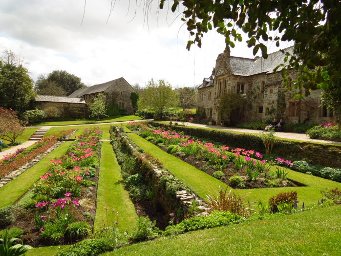 Cotehele house from the terraced garden
