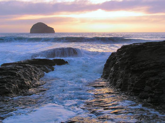 Sunset, Trebarwith Strand